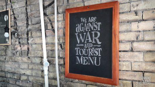 War and Tourist Menu